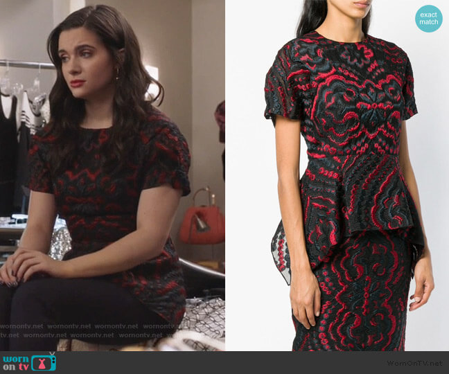 Foster Peplum Top by Roland Mouret worn by Jane Sloan (Katie Stevens) on The Bold Type
