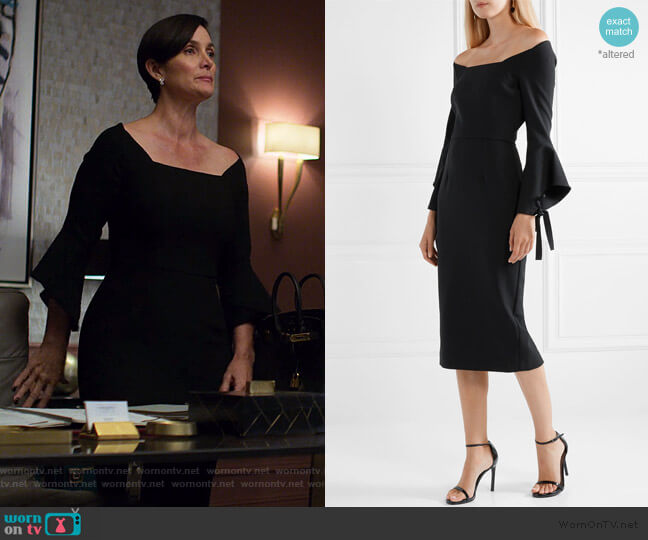Hitchcock Dress by Roland Mouret worn by Jeryn Hogarth (Carrie-Anne Moss) on Jessica Jones