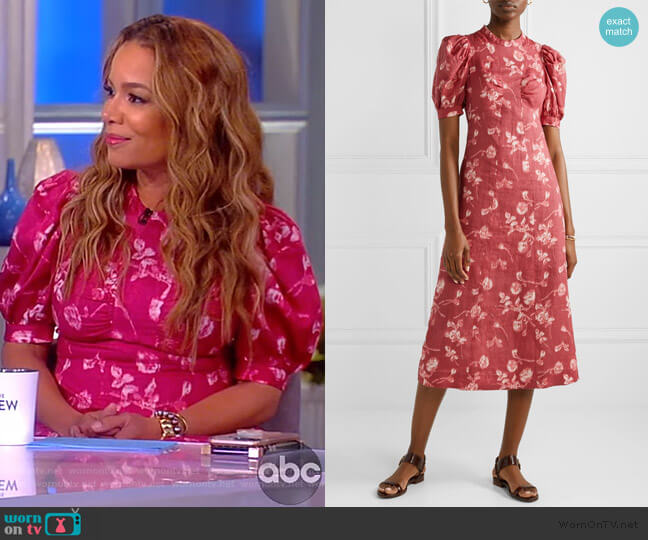 Monet Floral Print Dress by Sea worn by Sunny Hostin  on The View