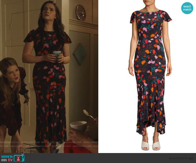 Daphne Floral Silk Maxi Dress by Saloni worn by Jane Sloan (Katie Stevens) on The Bold Type