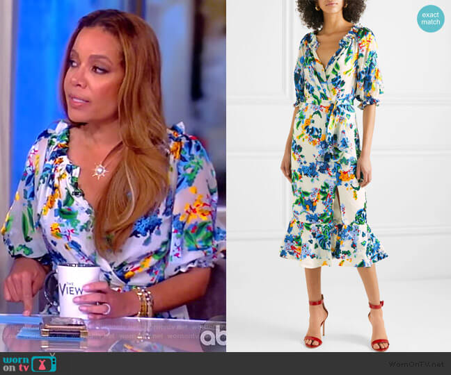 Olivia Dress by Saloni worn by Sunny Hostin  on The View