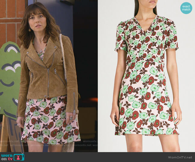 Antropique Dress by Sandro worn by Judy Hale (Linda Cardellini) on Dead to Me