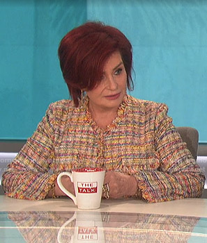 Sharon's tweed jacket on The Talk