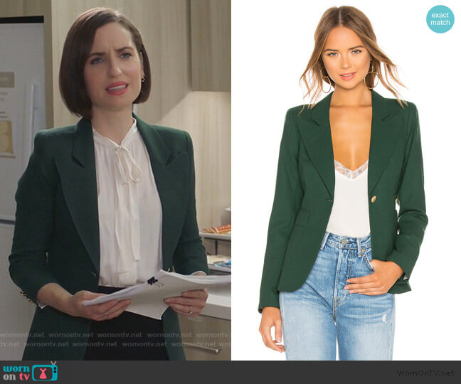Duchess Blazer by Smythe worn by Jennifer Short (Zoe Lister-Jones) on Life in Pieces