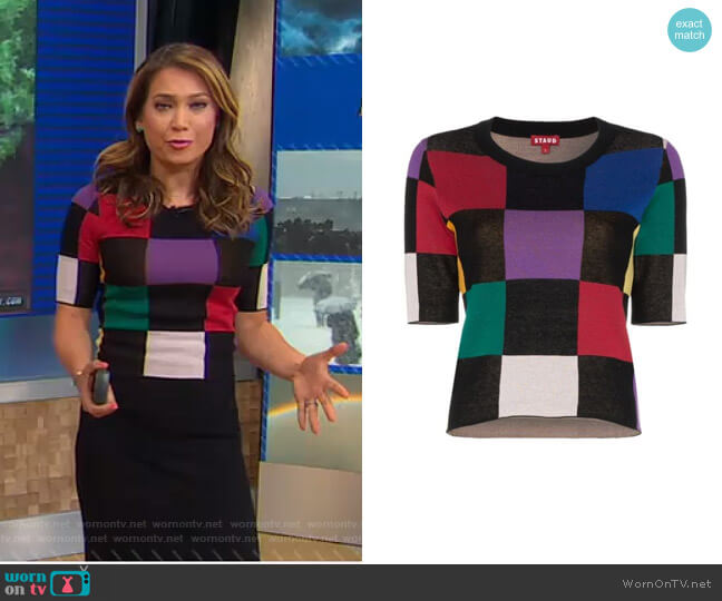 Bain Top by Staud worn by Ginger Zee  on Good Morning America