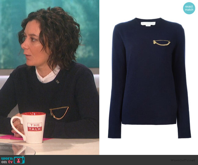 Falabella Sweater by Stella McCartney worn by Sara Gilbert  on The Talk