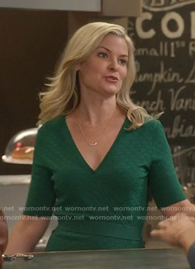 Stephanie's green wrap dress on Good Witch