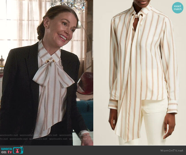 Striped Silk Blouse by Chloe worn by Liza Miller (Sutton Foster) on Younger