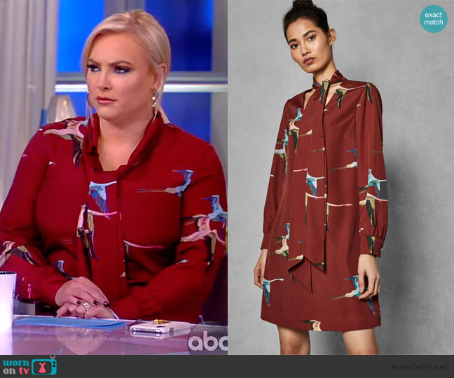 Wonderland Flight dress by Ted Baker worn by Meghan McCain  on The View