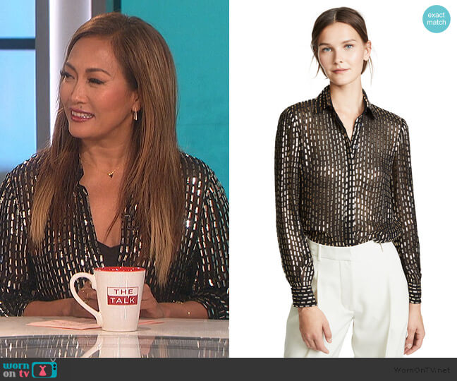 Mosaico Top by Temperley London worn by Carrie Inaba  on The Talk