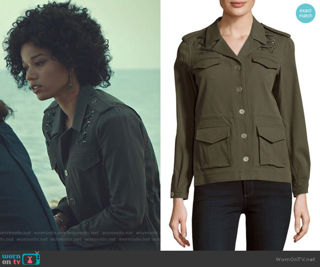 Solid Four-Pocket Long-Sleeve Jacket by The Kooples worn by Maia Roberts (Alisha Wainwright ) on Shadowhunters