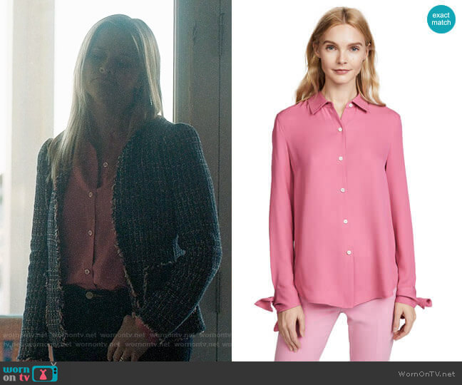 Theory Tie Cuff Shirt worn by Madeline Martha Mackenzie (Reese Witherspoon) on Big Little Lies