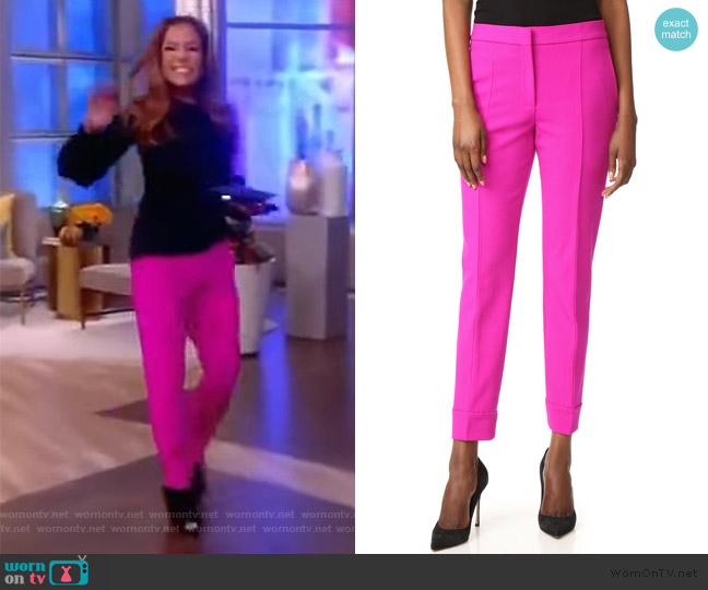 Trousers by Narciso Rodriguez worn by Sunny Hostin  on The View