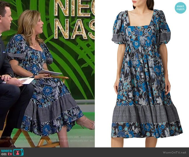 Nora Dress by Ulla Johnson worn by Jenna Bush Hager  on Today