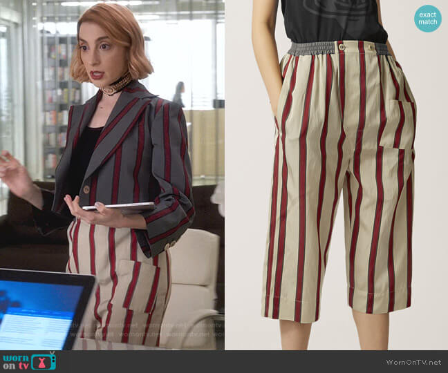Pyjama Shorts by Vivienne Westwood Anglomania worn by Lauren (Molly Bernard) on Younger