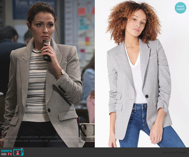Martel Dickey Jacket by Veronica Beard worn by Emily Rhodes (Italia Ricci) on Designated Survivor