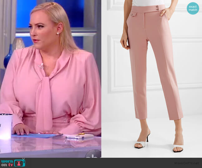 Renzo crepe tapered pants by Veronica Beard worn by Meghan McCain  on The View