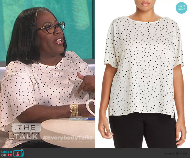 Polka Dot Dolman Top by Vince Camuto worn by Sheryl Underwood  on The Talk