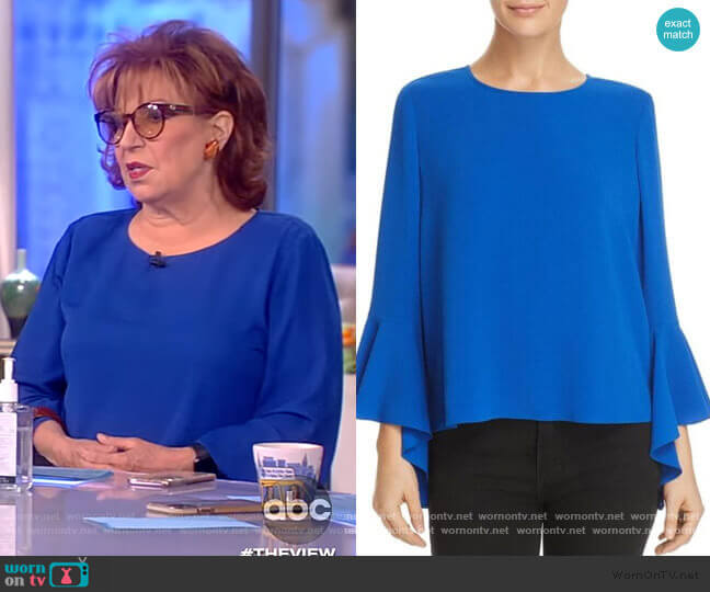 Blue Bell Sleeve Blouse by Vince Camuto worn by Joy Behar  on The View