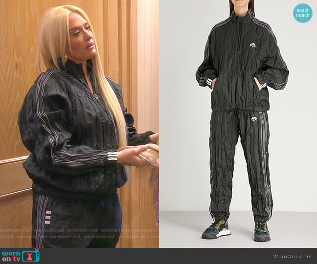 Crinkled Tech-Fabric Pullover Jacket and Track Pants by Adidas Originals by Alexander Wang worn by Erika Girardi  on The Real Housewives of Beverly Hills