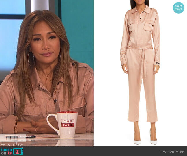 Jeter Jumpsuit by A.L.C. worn by Carrie Inaba  on The Talk