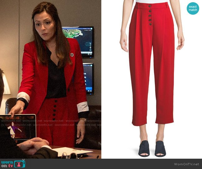 A.L.C. Russel Pants worn by Emily Rhodes (Italia Ricci) on Designated Survivor