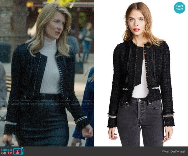 Alexander Wang Deconstructed Tweed Jacket with Chain Trim worn by Renata Klein (Laura Dern) on Big Little Lies