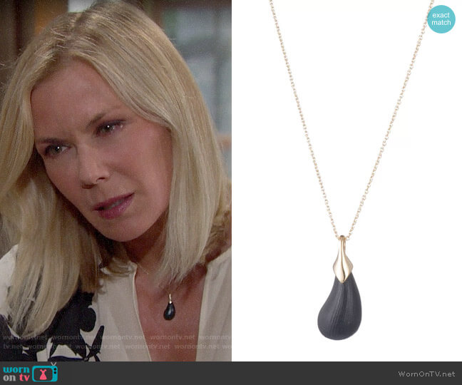 Alexis Bittar Dewdrop Pendant Necklace worn by Brooke Logan (Katherine Kelly Lang) on The Bold & the Beautiful