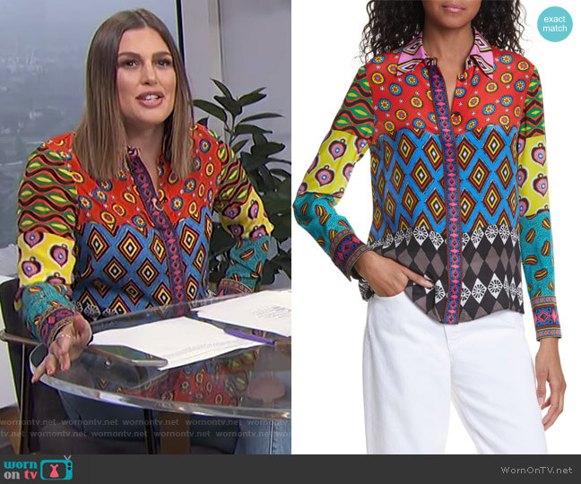 Willa Blouse by Carla Kranendonk X Alice + Olivia worn by Carissa Loethen Culiner  on E! News