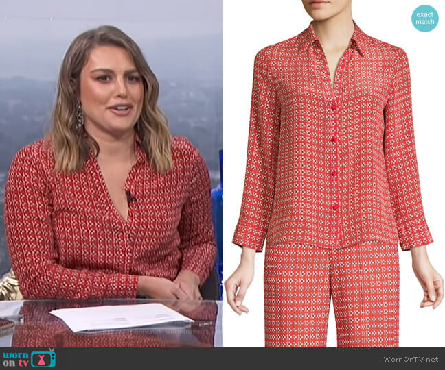 Eloise Blouse by Alice + Olivia worn by Carissa Loethen Culiner  on E! News