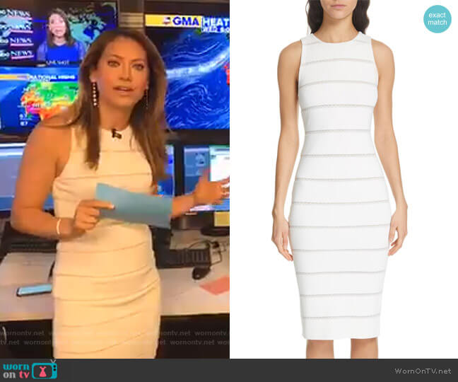 Jenner Dress by Alice + Olivia worn by Ginger Zee  on Good Morning America