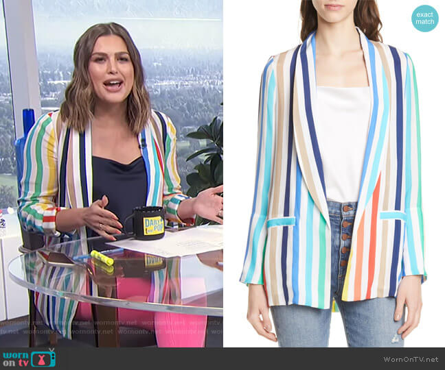 Kylie JAcket by Alice + Olivia  worn by Carissa Loethen Culiner  on E! News