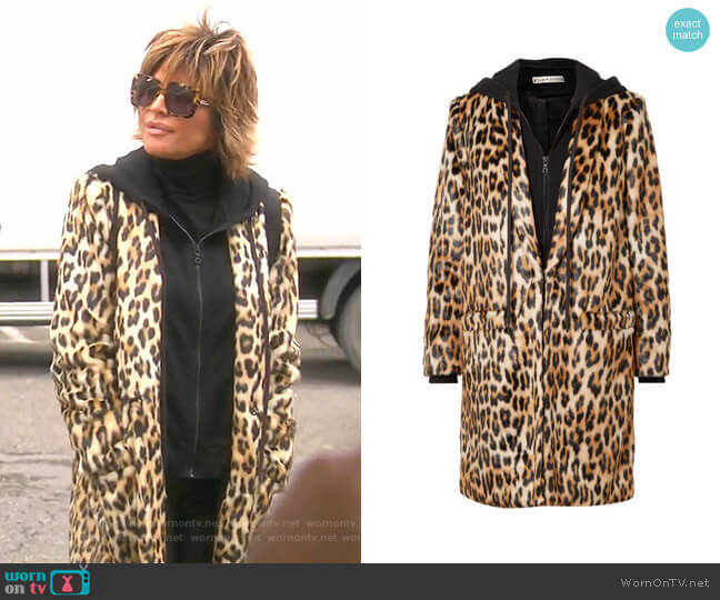Kylie Coat by Alice + Olivia worn by Lisa Rinna  on The Real Housewives of Beverly Hills