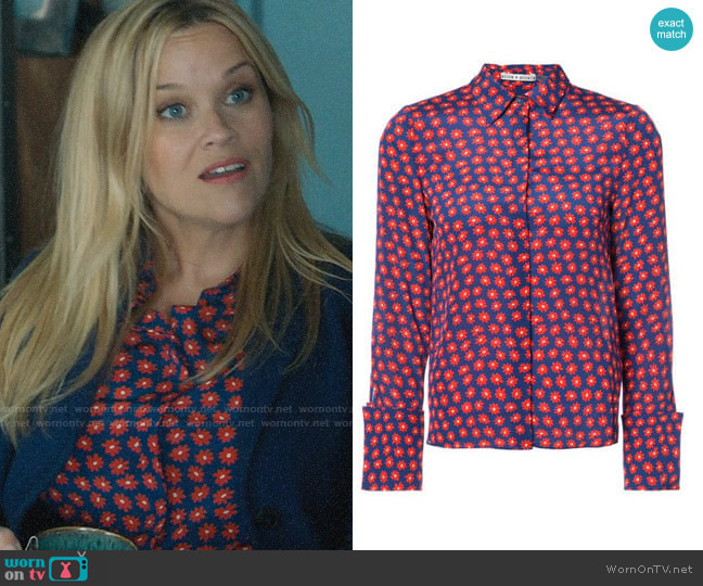 Alice + Olivia Daisy Print Shirt worn by Madeline Martha Mackenzie (Reese Witherspoon) on Big Little Lies