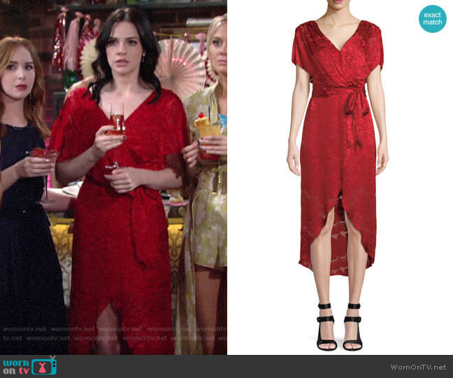 Alice + Olivia Darva Dress worn by Tessa Porter (Cait Fairbanks) on The Young & the Restless
