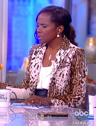 Debora Roberts's animal print blazer on The View