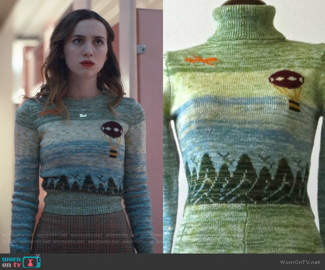 Arpeja Vintage Sweater worn by Lexi Howard (Maude Apatow) on Euphoria
