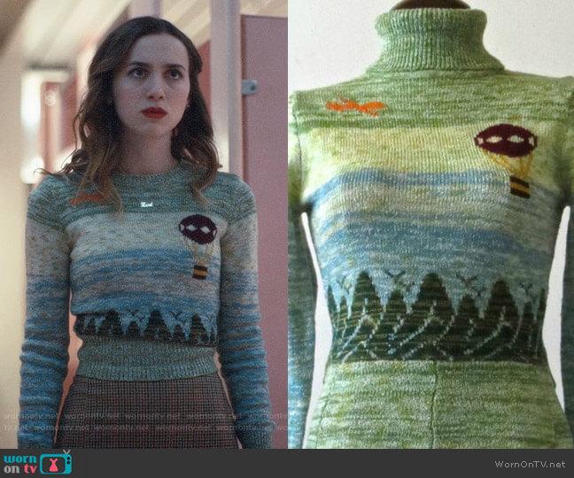 Arpeja Vintage Sweater worn by Lexi Howard (Maude Apatow) on Euphoria