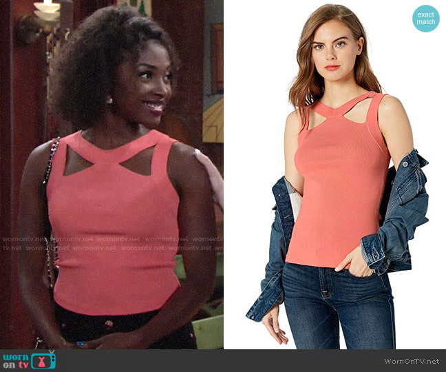 Bailey 44 Cerebral Sweater Top with Cutouts worn by Ana Hamilton (Loren Lott) on The Young & the Restless