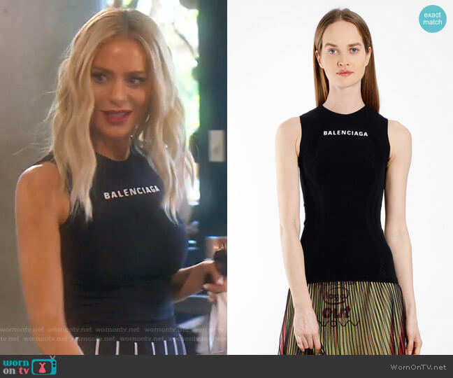 Tank Top - SS18 Collection by Balenciaga worn by Dorit Kemsley  on The Real Housewives of Beverly Hills