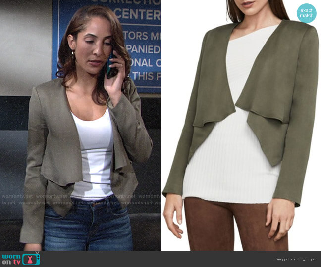 Bcbgmaxazria Ania Jacket worn by Lily Winters (Christel Khalil) on The Young & the Restless