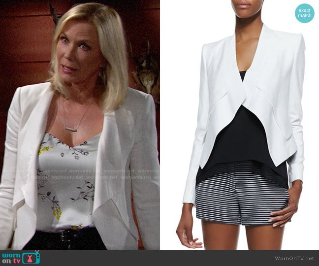 Bcbgmaxazria Lloyd Jacket worn by Brooke Logan (Katherine Kelly Lang) on The Bold & the Beautiful