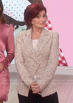 Sharon's tweed blazer on The Talk