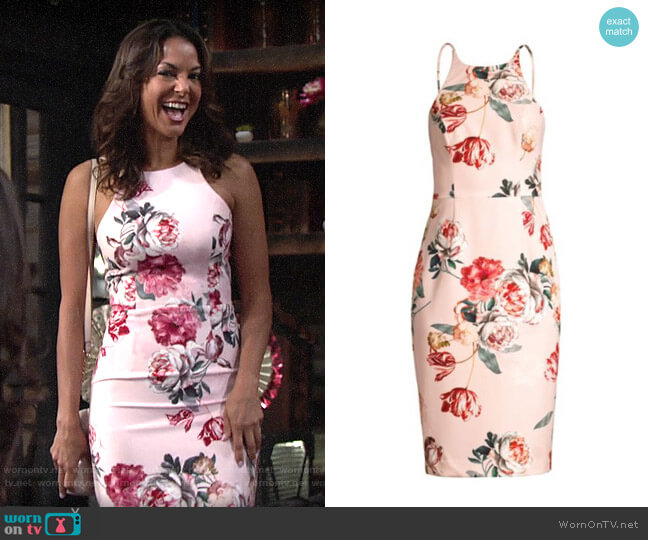 Black Halo Wallflower Dress worn by Celeste Rosales (Eva LaRue) on The Young & the Restless