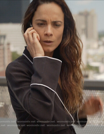 Teresa's black pajamas on Queen of the South