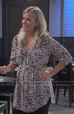 Carly's floral maternity tunic on General Hospital
