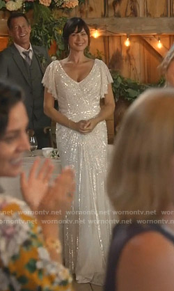 Cassie's wedding dress on Good Witch