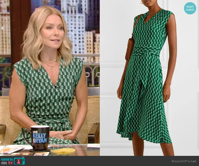 Matilda Dress by Cefinn worn by Kelly Ripa  on Live with Kelly & Ryan