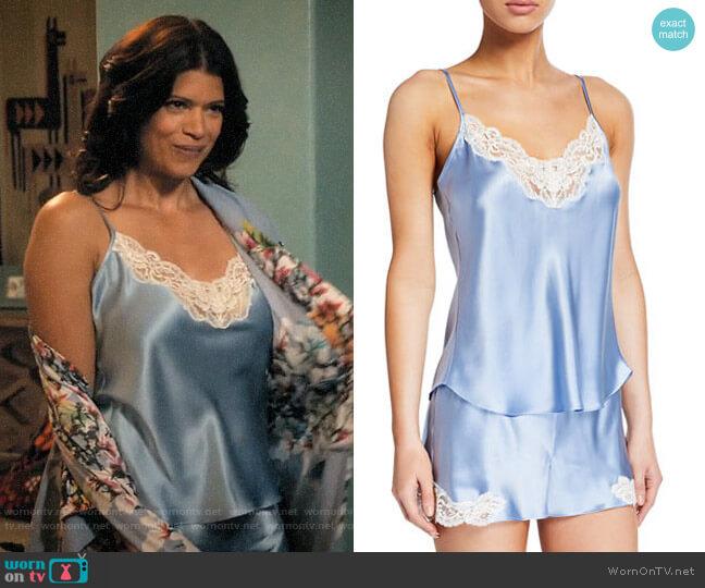 Christine Lingerie Bijoux Short Silk Pajama Set worn by Xiomara Villanueva (Andrea Navedo) on Jane the Virgin
