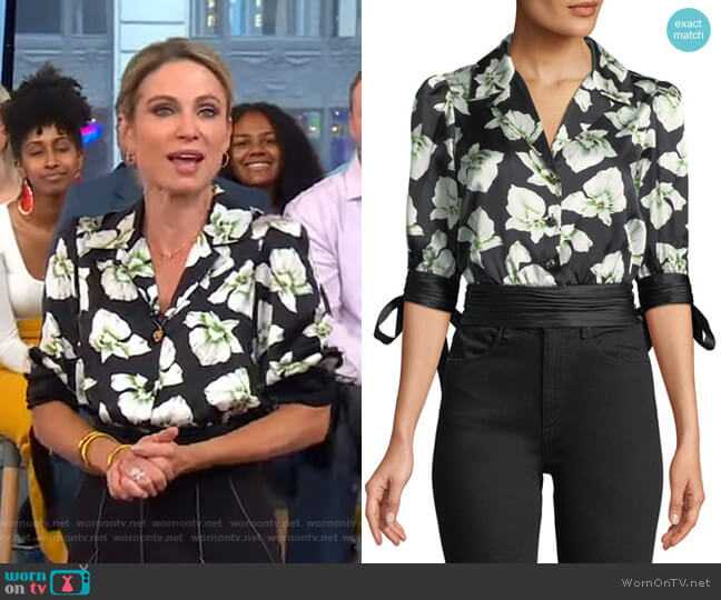 Delphina Top by Cinq a Sept worn by Amy Robach  on Good Morning America